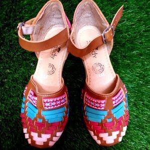 New Womens Leather Sandals Huarache